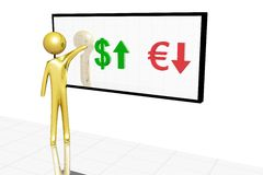 изменение валюты Стоковые Изображения
