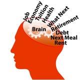 изменение иллюстрации цвета 4 bw мозга иллюстрация штока