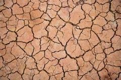 Изменение климата, глобальное потепление, крупный план треснуло почву Стоковая Фотография RF