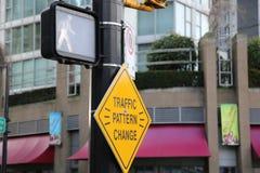 Изменение модели трафика знака Стоковая Фотография RF