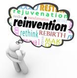 Изменение планирования мыслителя облака мысли слова повторного изобретения бесплатная иллюстрация