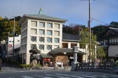 Изменение Япония цвета осени на Kinosaki onsen Стоковое Изображение