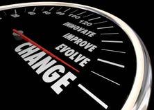 Изменение Innovate улучшает включает спидометр Стоковые Изображения