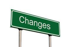 изменения зеленеют изолированный дорожный знак Стоковое Изображение RF