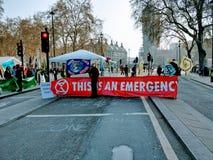 Изменения климата демонстрации Лондон Великобритания теперь стоковая фотография rf