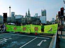 Изменения климата демонстрации Лондон Великобритания теперь стоковое изображение