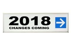 Изменения приходя в 2018 Стоковая Фотография