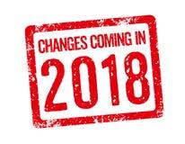 Изменения приходя в 2018 иллюстрация вектора