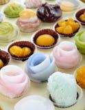 Изменения тайских десертов красочные Стоковое фото RF