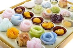 Изменения тайских десертов красочные Стоковые Изображения