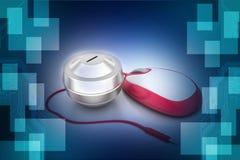измененная мышь дег конструкции принципиальной схемы компьютера он-лайн была Стоковое Изображение