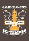 Изменители игры рождены в сентябре Стоковое фото RF