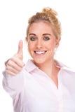 измените большие пальцы руки успеха знака мотивировки вверх Стоковая Фотография RF
