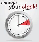 Измените ваше извещение о часов иллюстрация штока
