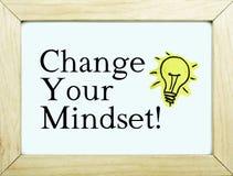 Измените вашу концепцию нововведения склада ума/воодушевленности стоковая фотография rf
