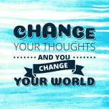 Измените ваш плакат вектора мыслей Стоковые Фотографии RF