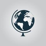 измените вектор иконы глобуса просто Стоковые Фото