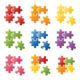 измените головоломку частей eps8 цветов легкую изменяя размеры вектор Стоковые Фотографии RF