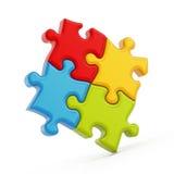 измените головоломку частей eps8 цветов легкую изменяя размеры вектор Стоковые Фото