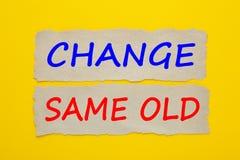 Измените и такая же старая концепция Стоковое фото RF