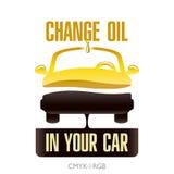 Измените масло двигателя в вашем автомобиле иллюстрация штока