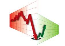 измените направление диаграммы Стоковые Изображения RF