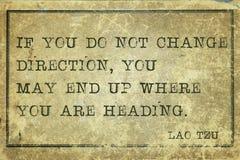 Измените направление Tzu Стоковая Фотография RF