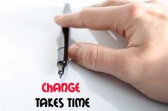 Измените принимает концепцию текста времени Стоковое фото RF