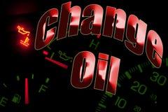Измените свет двигателя обслуживания масла стоковая фотография rf