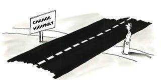 Измените шоссе Стоковая Фотография RF