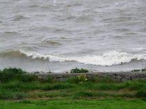 Изменчивые волны на голландское внутреннем видят Стоковое Изображение