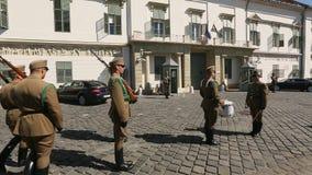 Изменять предохранителей венгерским президентским дворцом в районе замка Buda в Будапеште акции видеоматериалы