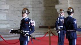 Изменять предохранителей на Chiang Kai-Shek мемориальном Hall HD акции видеоматериалы