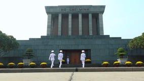 Изменять предохранителя на мавзолее Хо Ши Мин сток-видео