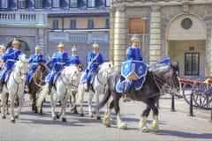 Изменять предохранителя около королевского дворца Швеция Стокгольм Стоковое Изображение RF