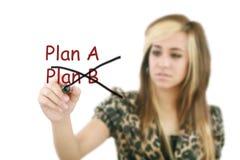 Изменять стратегии бизнеса-плана Стоковые Изображения RF