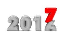 Изменяя год 2017 иллюстрация вектора