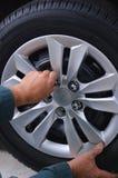 Изменяя колеса Стоковые Изображения