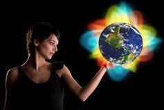 изменяя мир Стоковые Изображения RF