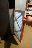 изменяя печь фильтра Стоковое Фото