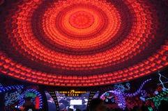 Изменяя света на куполе Стоковое фото RF