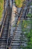 изменяя следы железной дороги стоковые изображения