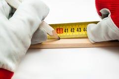 Измерение и amrk Стоковая Фотография RF