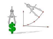 измерение показателей деловой активности Стоковые Фото