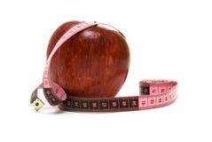 измерение яблока Стоковое Фото