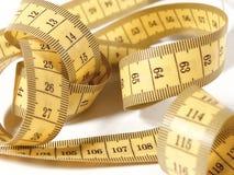 измерения сантиметры желтого цвета ленты стоковая фотография
