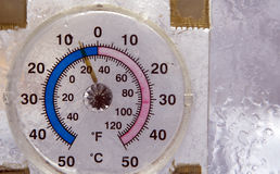 измеренный холод стоковая фотография rf