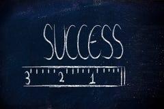 Измерьте ваш успех Стоковое фото RF