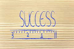 Измерьте ваш успех Стоковое Изображение RF