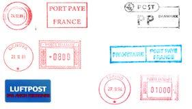 измеряет избитые фразы почтоваи оплата Стоковая Фотография